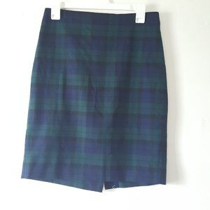 Jcrew Plaid Pencil Skirt